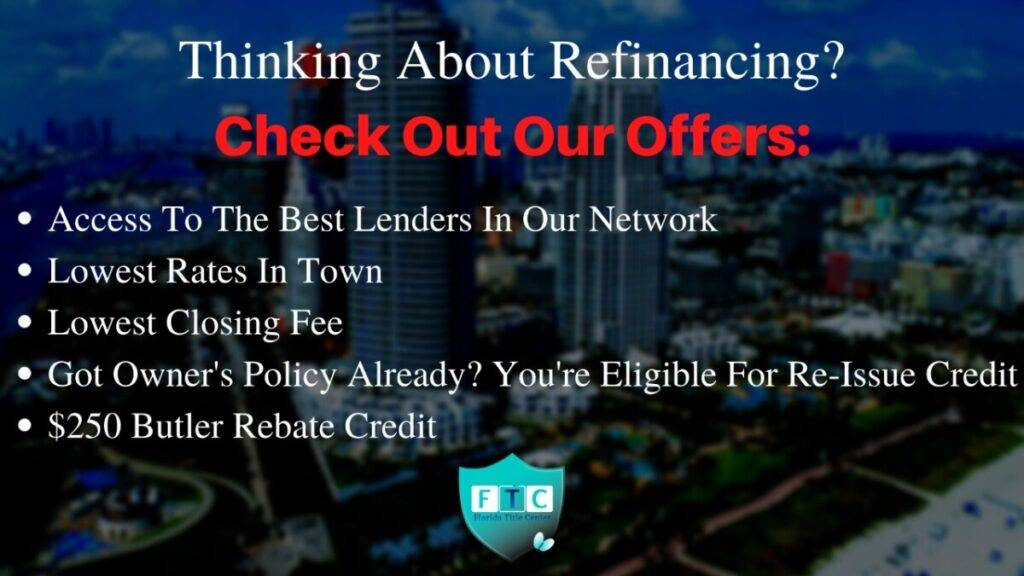 Best refinance title company deal in south florida